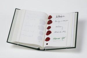 Faksimile des Östereichischen Staatsvertrag. Landessammlungen Niederösterreich - Foto: © Christoph Fuchs