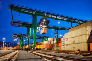 Mit dem Fahrplanwesel wird der Terminal der ÖBB Infrastruktur in Wolfurt Teil des AlbatrosExpress-Netzwerks der TFG-Transfracht. Foto: © ÖBB / Lukas Hämmerle