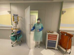 Extra Schleusen und ein Hygiene-Center vor jedem Patientenzimmer auf der Covid-Station sorgen für hohe Sicherheit. Foto: © BHS Wien
