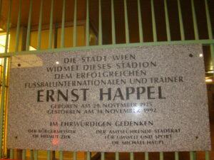 Seit 1993 heißt trägt das Wiener Stadion den Namen von Ernst Happel, dem größten Trainer der Österreichischen Fußballgeschichte. Foto: oepb