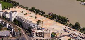"""Die """"Linzer Zukunftswerkstatt"""" arbeitet an einer dauerhaften Nutzung des Urfahraner Marktgeländes. Bereits 2021 soll mit der Gestaltung begonnen werden. Foto: © Marktareal, Foto Stadt Linz /PTU, Heimo Pertlwieser"""