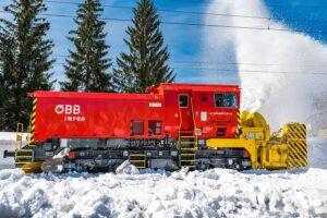 Die Schneeschleudern der ÖBB sorgen für einen reibungslosen Ablauf des Fahrplans, gerade im Winter. Foto: © ÖBB / Michael Fritscher